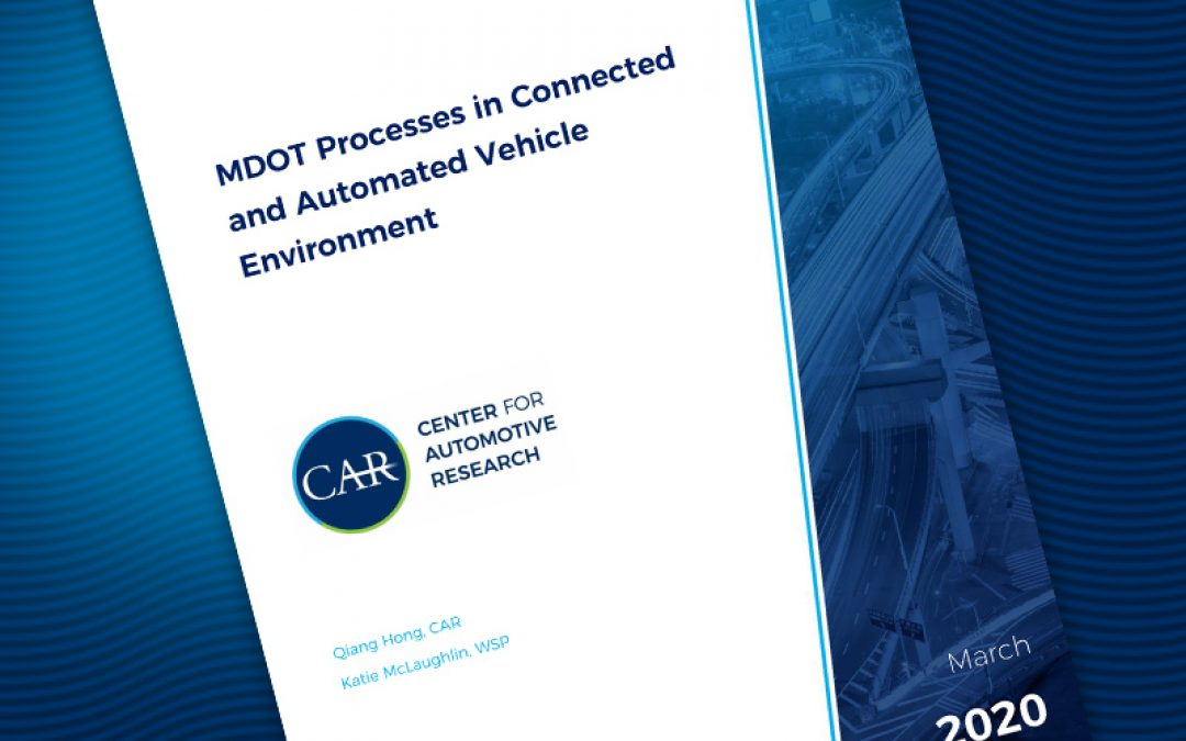 MDOT Processes in Connected and Automated Vehicle Environment