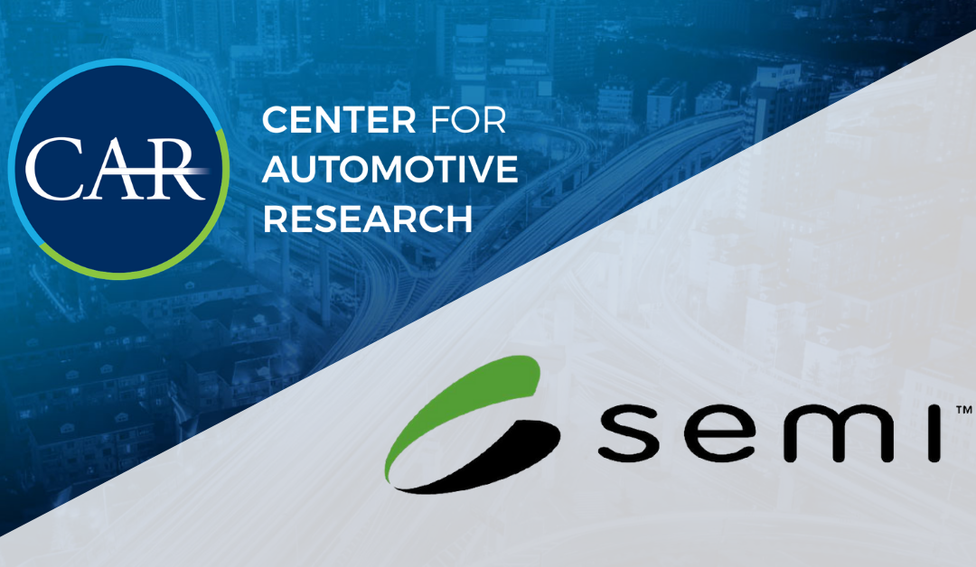 SEMI and Center for Automotive Research Announce Collaboration to Harmonize Semiconductor and Automotive Supply Chains